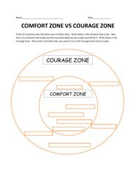 """""""Comfort Zone VS Courage Zone Worksheet"""""""