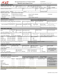 """""""Measles Case Report Form"""" - Georgia (United States)"""