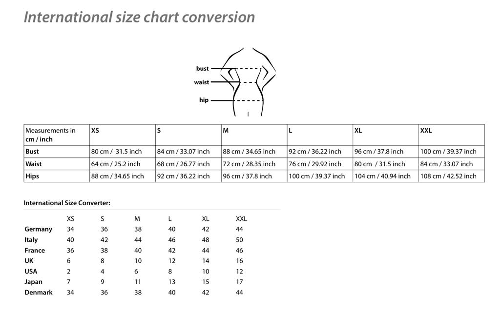 International Size Conversion Chart Download Printable Pdf