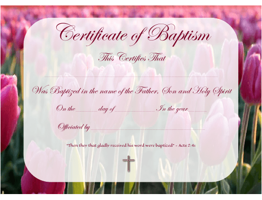 certificate of baptism template download pdf