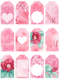 """""""Valentine's Day Gift Tag Templates"""""""