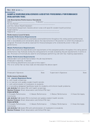 Nursing/Unlicensed Assistive Personnel Performance Evaluation Form - National Association of School Nurses