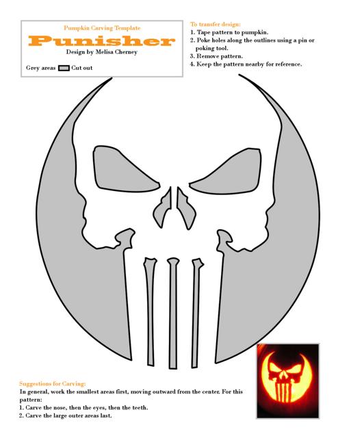 Punisher Pumpkin Carving Template Download Pdf