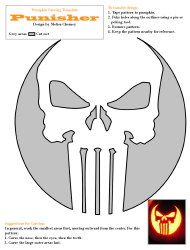 """Punisher Pumpkin Carving Template"""