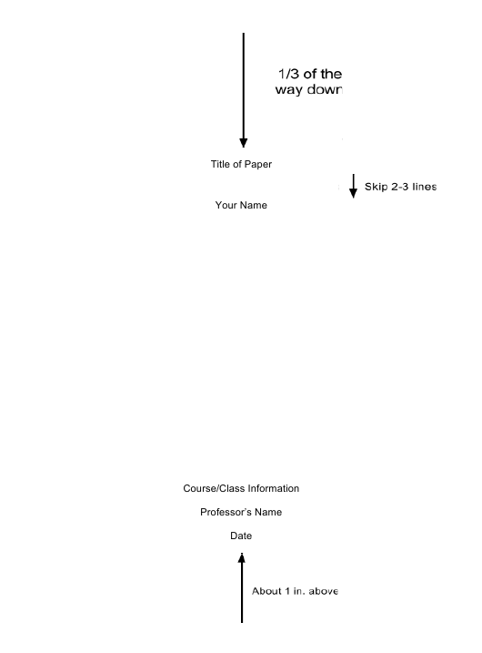 sample essay cover page