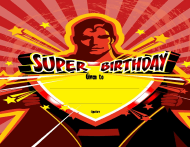 """Super Birthday Certificate Template"""
