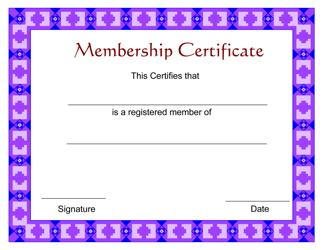 """""""Membership Certificate Template"""""""