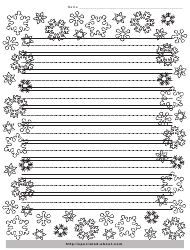 """""""Christmas Writing Paper Template With Decorative Borders"""""""