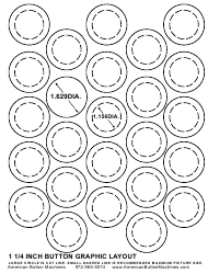 1-1/4 Inches Button Graphic Layout Template