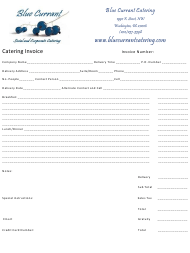 Catering Invoice Template - Blue Currant Catering - Washington
