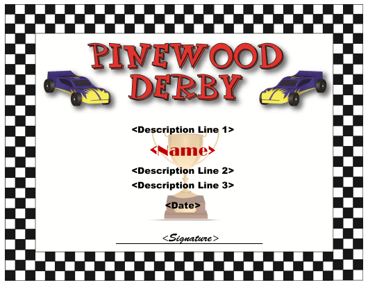 Pinewood Derby Certificate Template Download Pdf