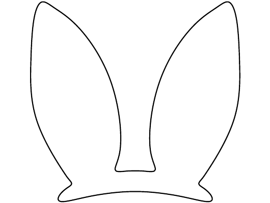 """""""Easter Bunny Ears Template"""" Download Pdf"""