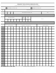 DA Form 4701-R Request for Avfuels Identaplates