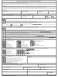DD Form 2792-1 Special Education/Early Intervention Summary, Page 3