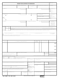 DD Form 1155 Order for Supplies or Services