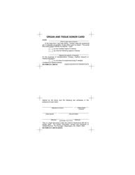 DD Form 2731 Organ and Tissue Donor Card