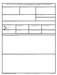 """DA Form 335-R """"Application for Approval of Management Information Requirement"""""""