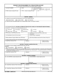 "DA Form 12 ""Request for Establishment of a Publications Account"""