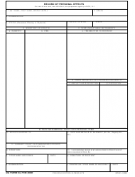 DA Form 54  Fillable Pdf