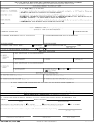 DA Form 591 Application for Initial (Educational) Delay From Entry on Active Duty and Supplemental Agreement