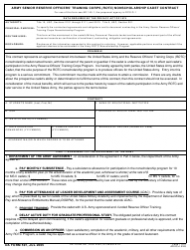 DA Form 597 Army Senior Reserve Officers' Training Corps (Rotc) Nonscholarship Cadet Contract