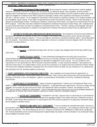 """DA Form 597 """"Army Senior Reserve Officers' Training Corps (Rotc) Nonscholarship Cadet Contract"""", Page 3"""