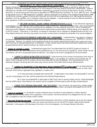 """DA Form 597 """"Army Senior Reserve Officers' Training Corps (Rotc) Nonscholarship Cadet Contract"""", Page 4"""