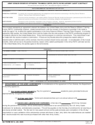 DA Form 597-3 Army Senior Reserve Officers' Training Corps (Rotc) Scholarship Cadet Contract