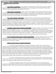 DA Form 597-3 Army Senior Reserve Officers' Training Corps (Rotc) Scholarship Cadet Contract, Page 3