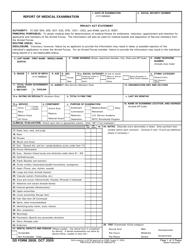 DD Form 2808 Report of Medical Examination