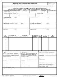 DD Form 250 Material Inspection and Receiving Report