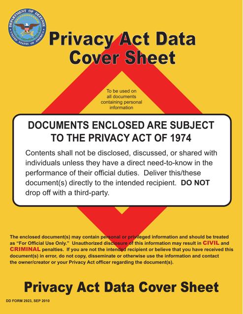 DD Form 2923 Printable Pdf