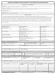 DD Form 2656-5 Reserve Component Survivor Benefit Plan (Rcsbp) Election Certificate