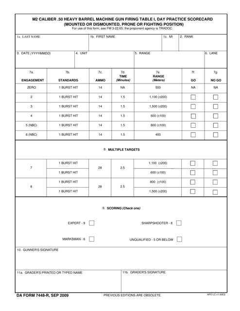 DA Form 7448-R  Printable Pdf