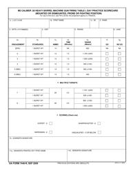 "DA Form 7448-R ""M2 Caliber .50 Heavy Barrel Machine Gun Firing Table I, Day Practice Scorecard (Mounted or Dismounted, Prone or Fighting Position)"""