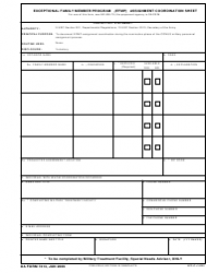 DA Form 7413 Exceptional Family Member Program (EFMP) Assignment Coordination Sheet
