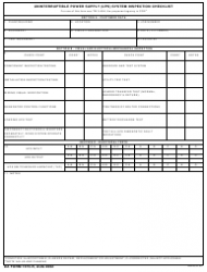 DA Form 7475-R Uninterruptible Power Supply (U.S. System Inspection Checklist