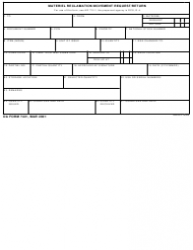 DA Form 7421 Material Reclamation Movement Request/Return