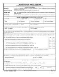 """DA Form 7574 """"Incapacitation Pay Monthly Claim"""""""