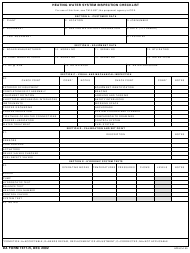 "DA Form 7477-R ""Heating Water System Inspection Checklist"""