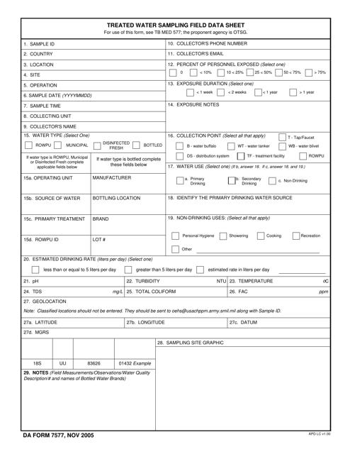 DA Form 7577 Fillable Pdf