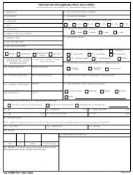 DA Form 7577 Treated Water Sampling Field Data Sheet
