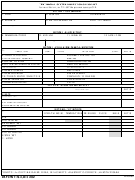 "DA Form 7479-R ""Ventilation System Inspection Checklist"""