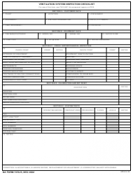 DA Form 7479-R Ventilation System Inspection Checklist