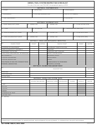 "DA Form 7480-R ""Diesel Fuel System Inspection Checklist"""