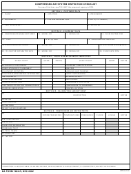 "DA Form 7482-r ""Compressed Air System Inspection Checklist"""