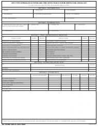 DA Form 7483-r Wet Pipe Sprinkler System and Fire Detection System Inspection Checklist