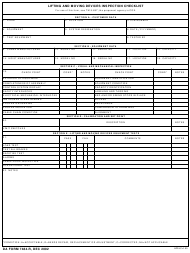 "DA Form 7484-r ""Lifting and Moving Devices Sys Inspection Checklist"""