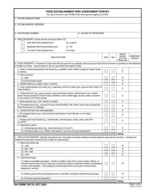 DA Form 7437-r Fillable Pdf