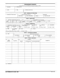 DA Form 8014-r Cockroach Survey